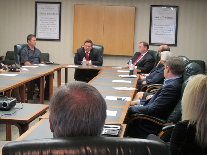 Governor, DeSantis (then Congressman) meets with Chamber leaders